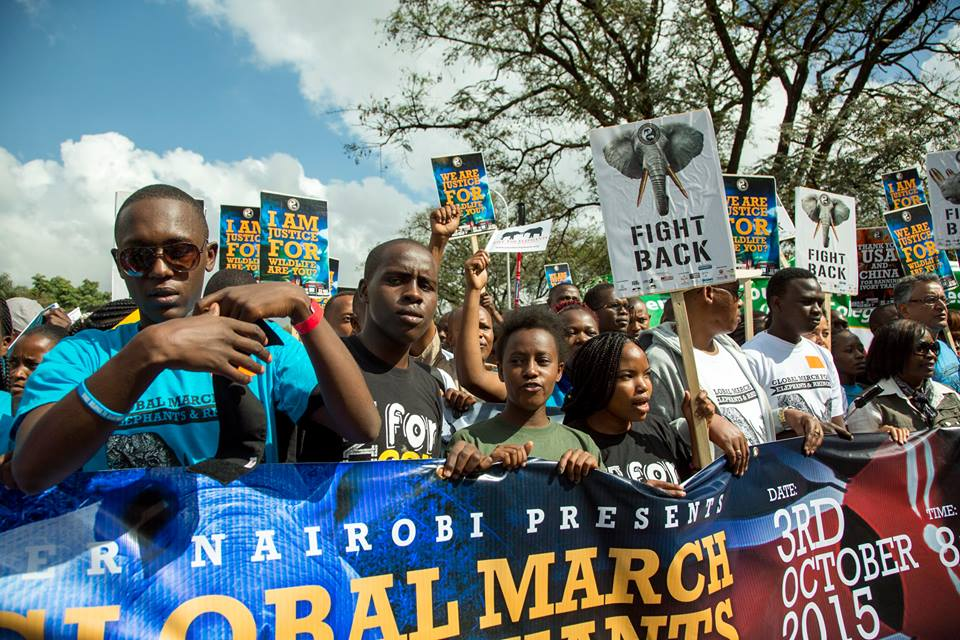 Global March For Elephants, Rhinos and Lions 2016